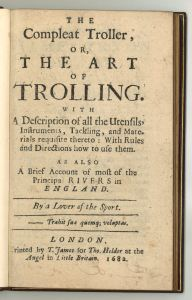 Robert Nobbes (1652-1706?). The Compleat Troller. London, 1682. ESTC R202195. Title page