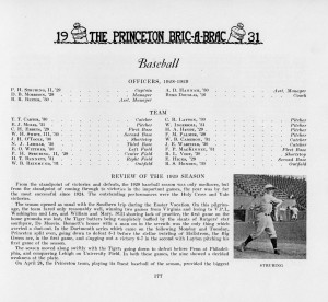 Team roster in the 1931 Bric-a-Brac