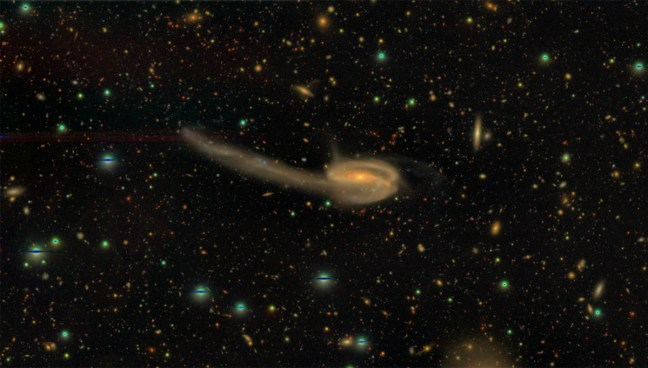 Figure 3: Interation between galaxies