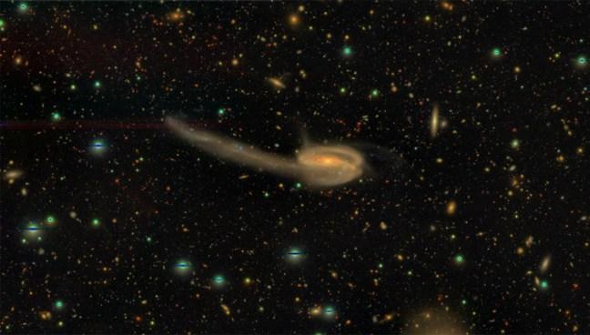 Figure 3: Interation between galaxies