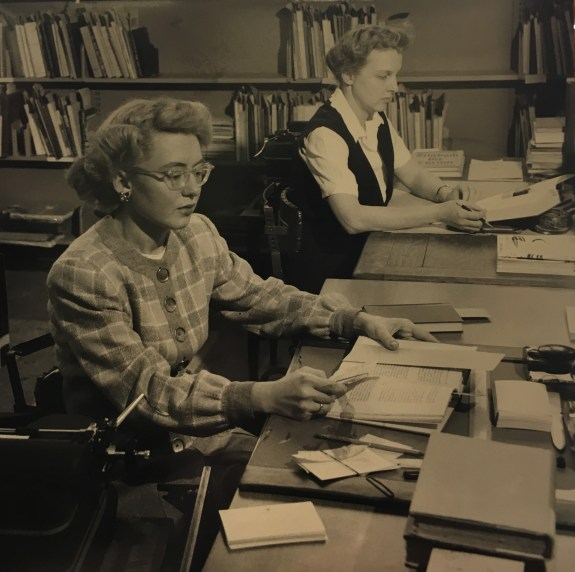 Firestone Catalogers, circa 1950s from Historical Photograph Collection, Campus Life Series (AC112), Box MP6 Image #104
