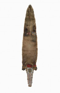 Beaded Otterskin Bag, 19th Century, Gift of Huguette Hoguet. Museum Objects Collection.
