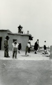Photographers on a Roof, Possibly Shooting an Indian Ceremony.