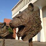 Tiger sculpture