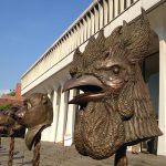 Rooster sculpture