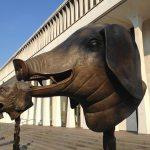 Pig sculpture