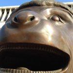 Close-up of monkey sculpture
