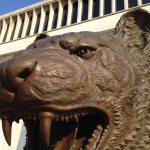 Close up of tiger sculpture