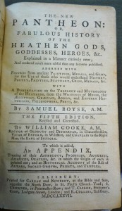 """Title page of """"The New Pantheon"""" (5th ed.)"""