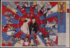 Shinʾan Gendai Fujin Sugoroku (A newly designed modern women's game). Supplement to Shin Fujin (New women), vol. 3, no. 1. Tokyo: Shiseidō, 1913. (Cotsen 153575)