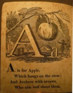 A is for Apple Aunt Lely's Picture Alphabet (McLougliin Bros., [between 1863 and 1866]) Cotsen 4393