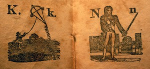 K is for Kite, N is for Napoleon, The Pictured Alphabet, (Solomon King, 1820) Cotsen new accession