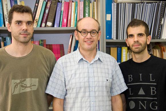 Carles Navau, Àlvar Sánchez y Jordi Prat.