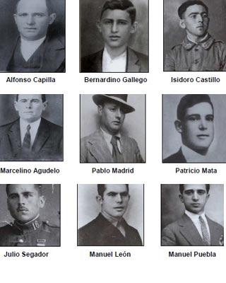 Fusilados republicanos de Chillón (Ciudad Real), en junio de 1939