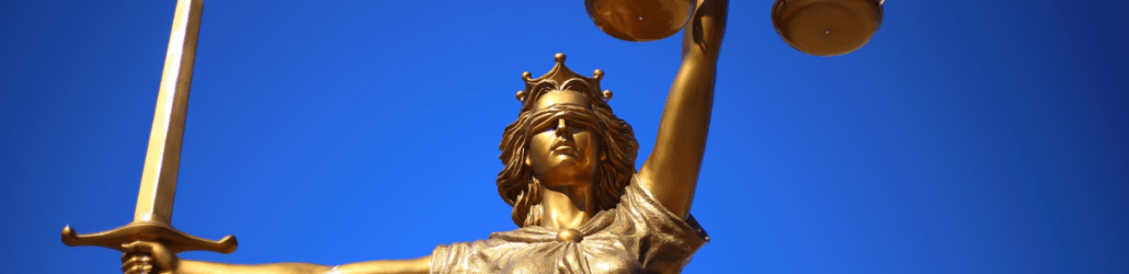 Statue of Lady justice with scales and a sword