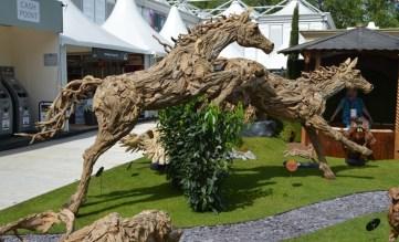 Stunning driftwood horses