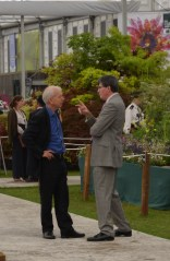 Serious discussions at Chelsea Flower Show