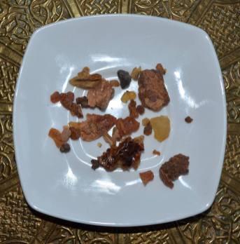 Day 6 - Samples of Myrrh along with bark of Commiphora myrrah