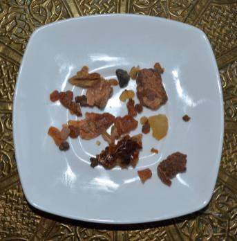 Day 6 - Samples of Myrrh along with bark of Commiphora myrrah