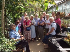The Nigerian Field Society at the end of their visit to the Tropical biodiversity Glasshouse