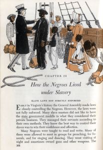 School textbook page titled How the Negroes Lived under Slavery