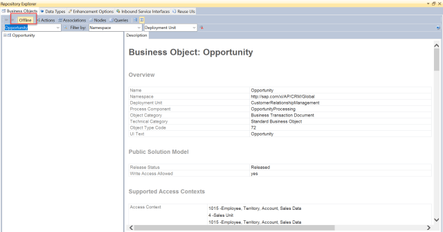 Creation of an Offline for extension Business Object  SAP Blogs