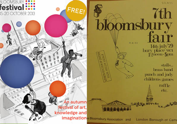 Poster from the 1979 Bloomsbury Fair, courtesy of Camden Local Studies and Archives Centre and the Bloomsbury Association