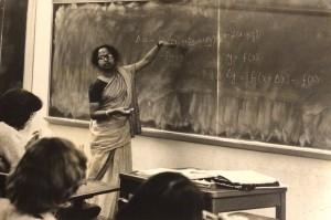 Radhika Kulkarni, PhD in Operations Research, Cornell University, teaching calculus as a grad student.