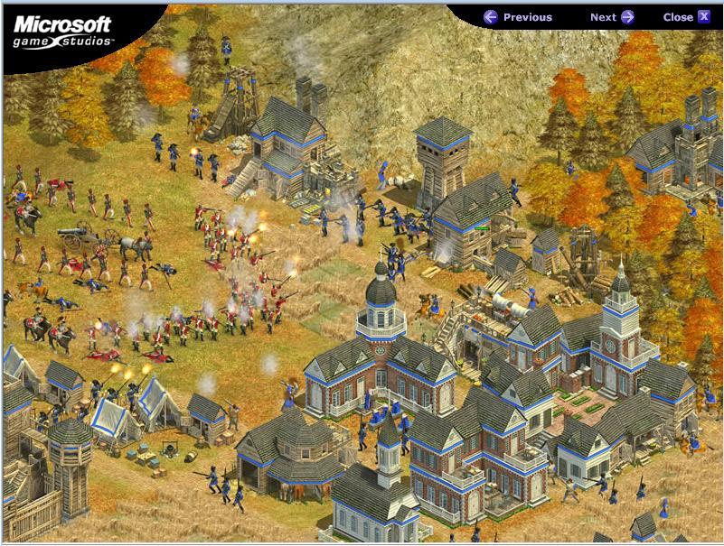 στιγμιότυπο από το παιχνίδι στρατηγικής Rise of Nations