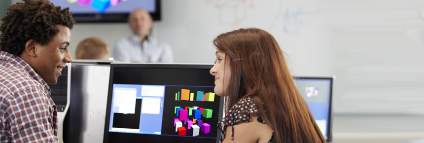 Image of students in a computer lab