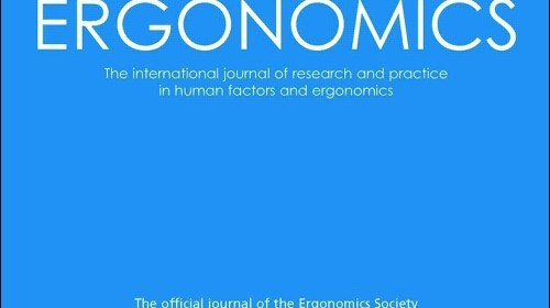 Ergonomics Journal front cover