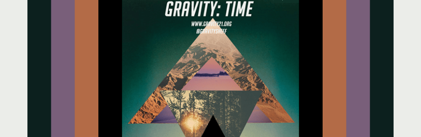 Poster for 2014-2015 Fine Art lecture series - Gravity