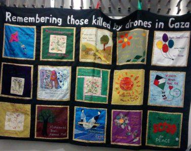 Gaza memorial banner