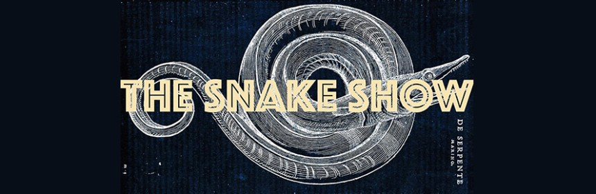 Image to promote The Snake Show, featuring work by Sharon Kivland. Image from Snake Show Facebook page