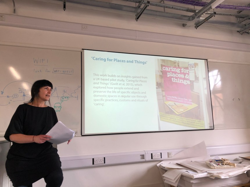 Image of Jackie Leaver at the seminar. Courtesy of Alison Honnor.