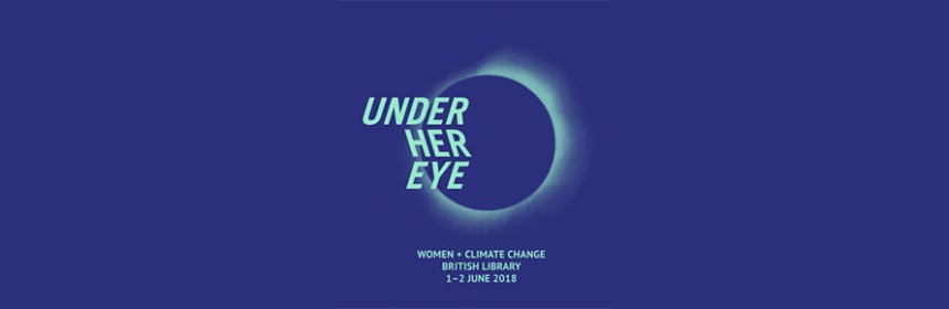 Promotional banner image for Under Her Eye at the British Library, image from Invisible Dust