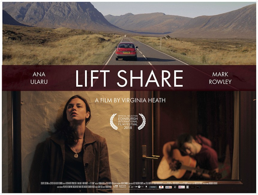 Promotional poster for Lift Share, by Virginia Heath