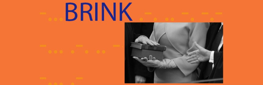 Banner for BRINK - exhibition at the SIA/Yorkshire Artspace in July-August 2018