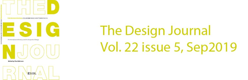 The Design Journal Vol 22 issue 5
