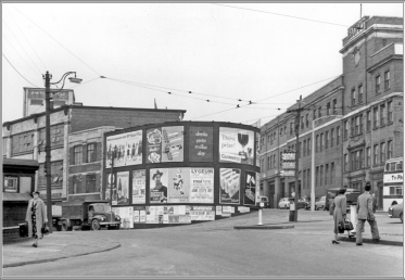 Arthur Davy Ltd stretched from Howard Street through to Charles Street. Charles Lane and Howard Lane were accessed through the gateway at Davy - circa 1940 - 59. Image courtesy of Sheffield Archives and Local Studies Picture Sheffield.