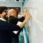 Staff using a whiteboarding technique