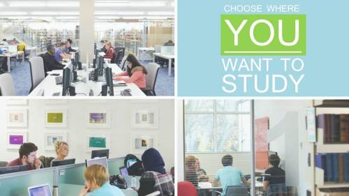 study where you want in the library