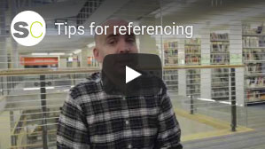Click for a video with tips on referencing