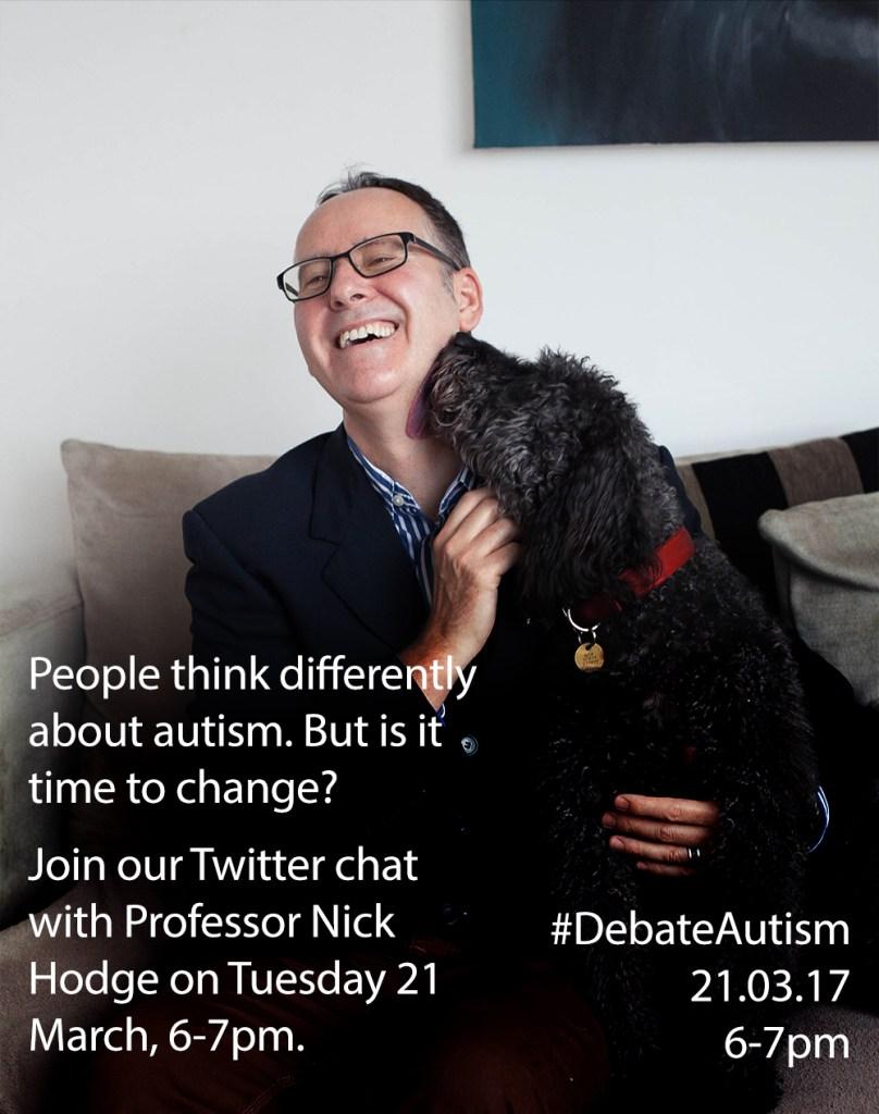 Professor Nick Hodge and his dog Huck