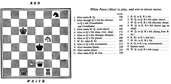 The Chess Board Design of 'Through the Looking Glass'
