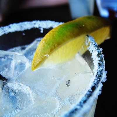 Margarita, with salt and lime. Courtesy Flickr user smohundro