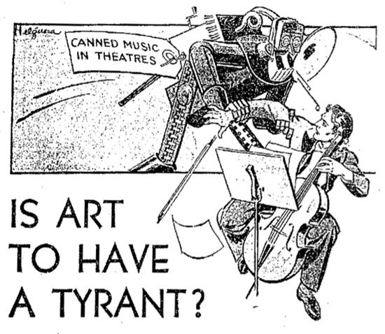 Anúncio num jornal de 1930