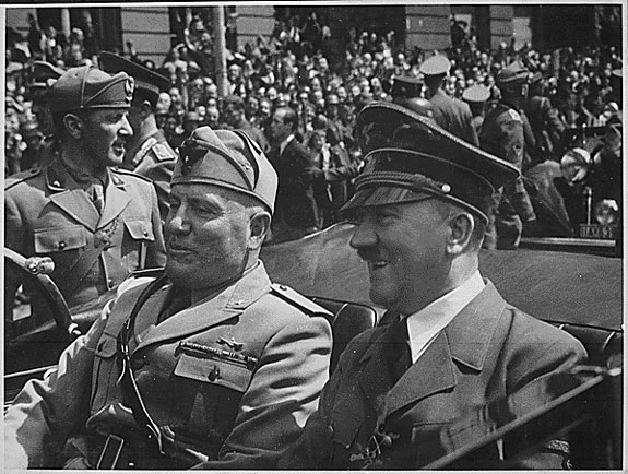 Mussolini and Hitler in Munich in 1940