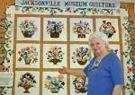 Joedy Kimmel with Lillian's Legacy Quilt