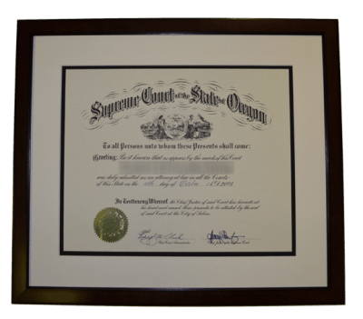 Framed Diploma by Bohemia Framing and Fine Art Gallery